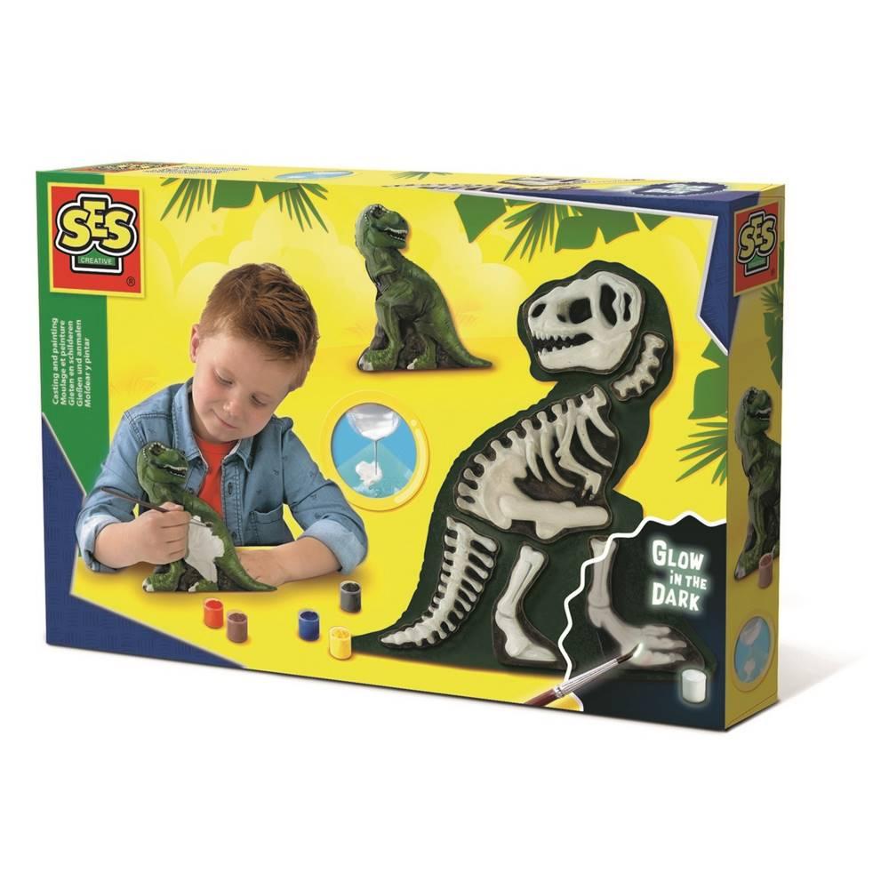 SES SES CREATIVE Sádrový T-Rex kreativní set k odlévání z gumové formy