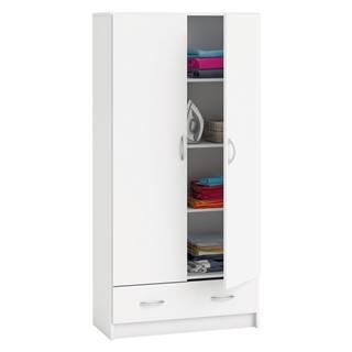Skriňa policová 2 dvere + 1 zásuvka BEST biela