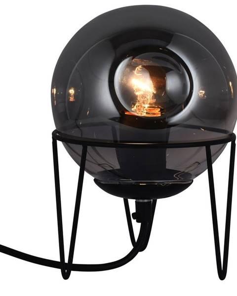 Sivá stolová lampa Möbelix