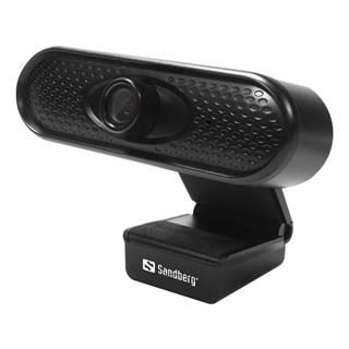 Webkamera Sandberg Webcam 1080p čierna