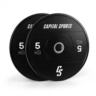 Capital Sports Elongate 2020, kotúče, 2 x 5 kg, tvrdá guma, 50,4 mm