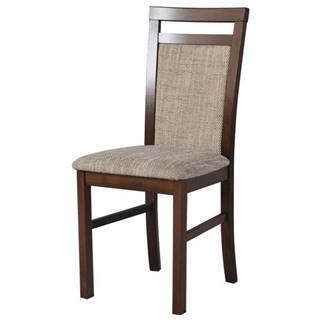 Jedálenská stolička MILAN 5 hnedá/béžová