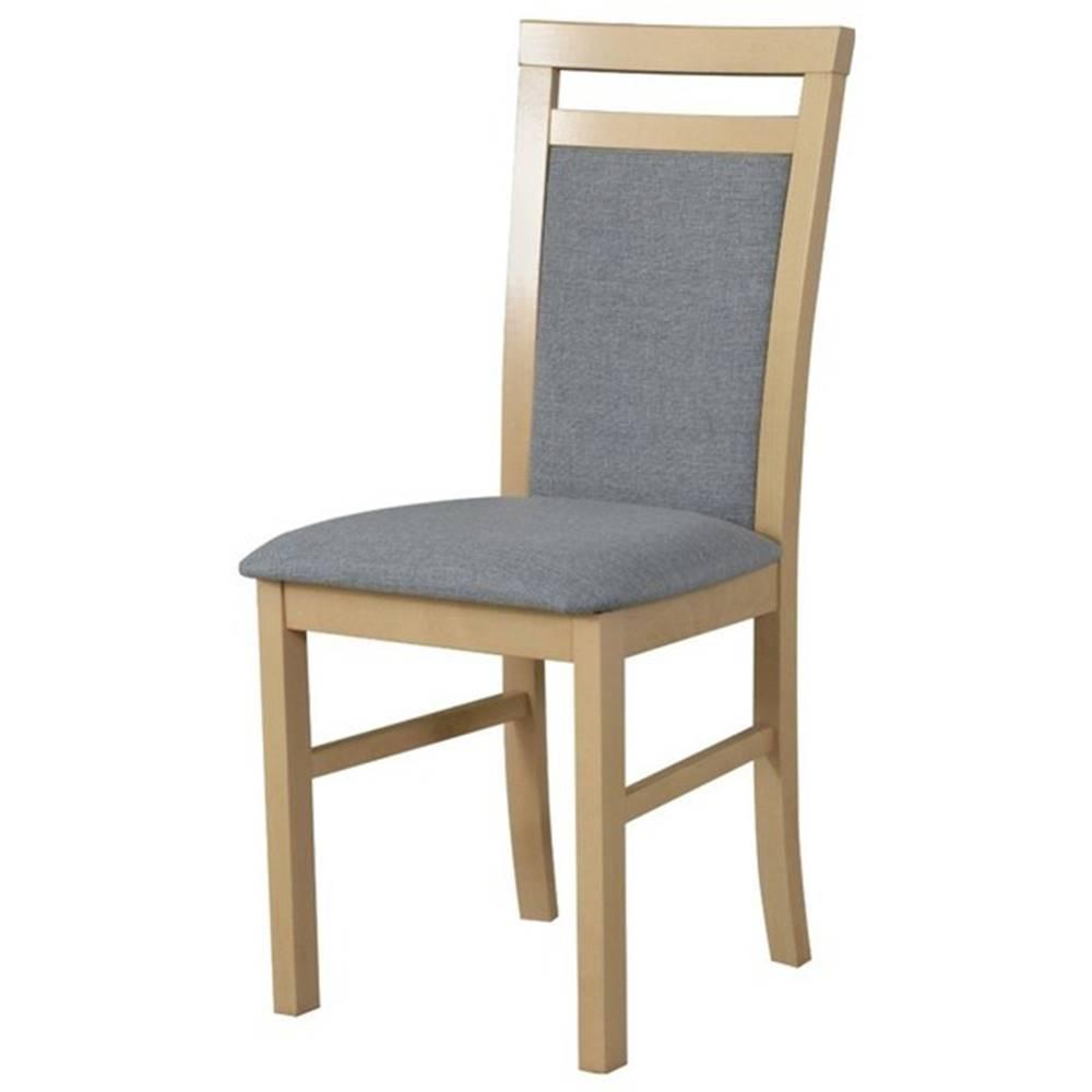 Sconto Jedálenská stolička MILAN 5 béžová/sivá