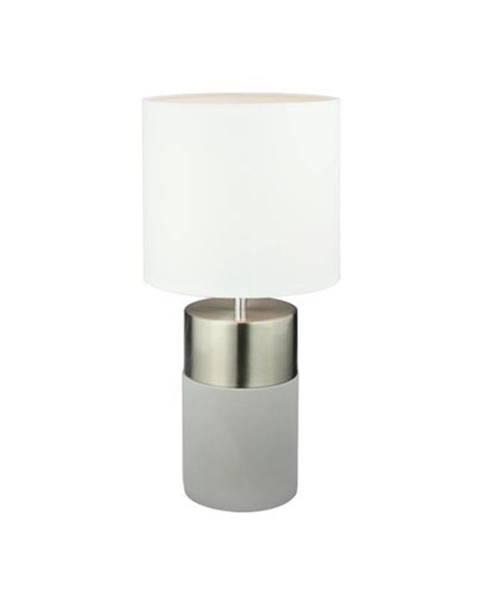 Sivá stolová lampa Bellatex