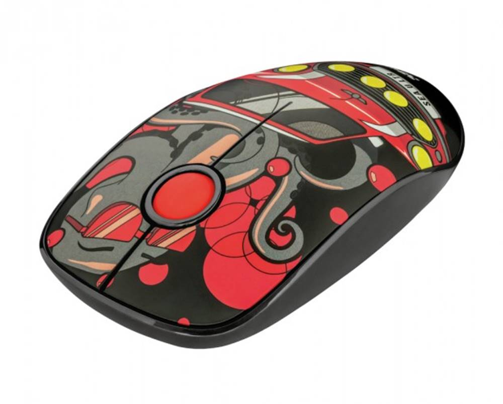 Trust Bezdrôtová myš Trust Sketch, červená