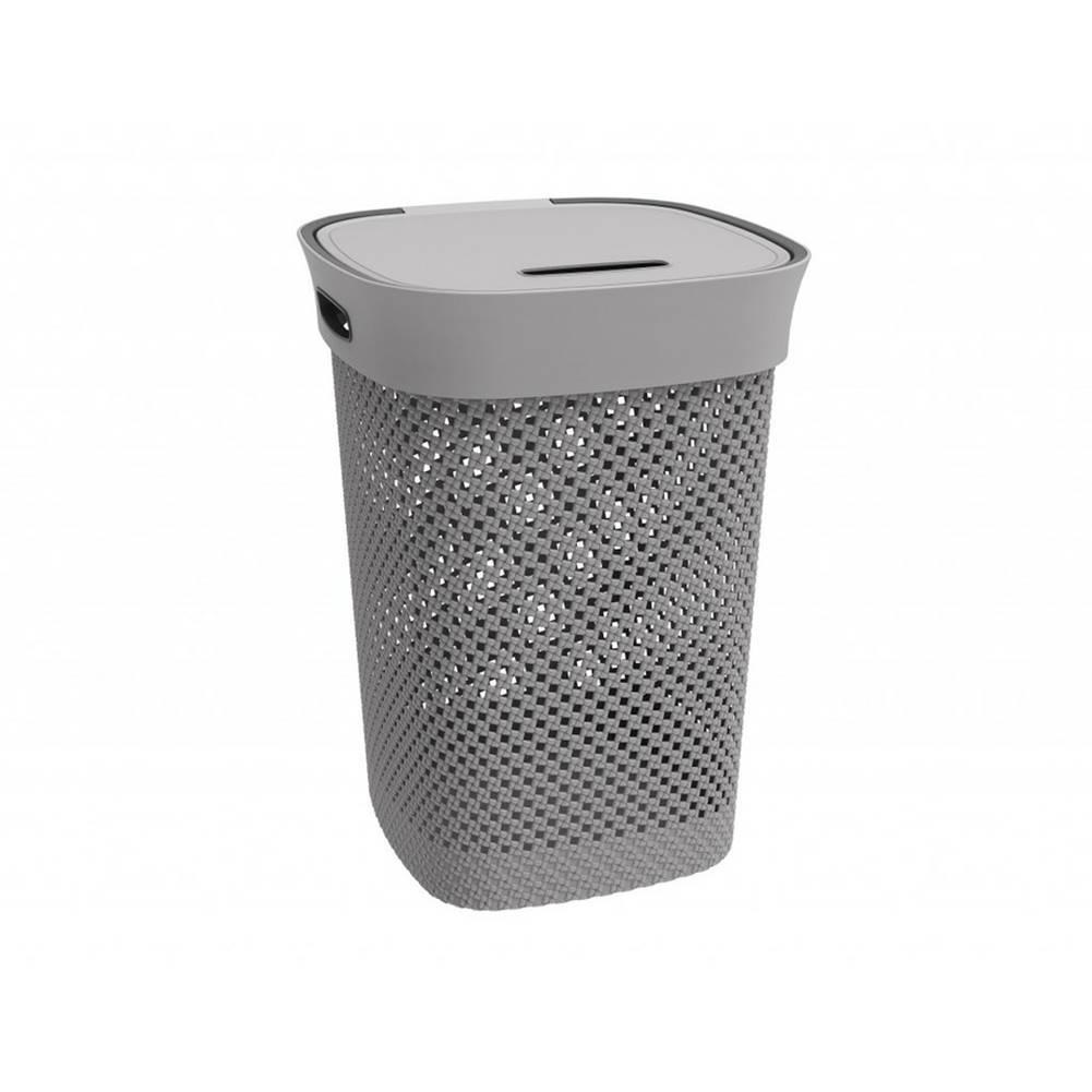 DecoKing Aldo Kôš na špinavú bielizeň Woolly 50 l, sivá
