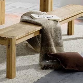 HAMBURG lavica, lakovaný prírodný dub 160x33 cm