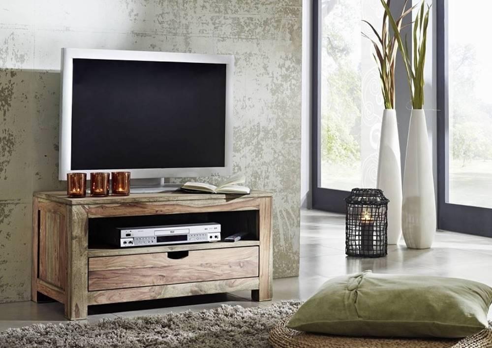 Bighome.sk GREY WOOD TV stolík 87x45 cm, palisander