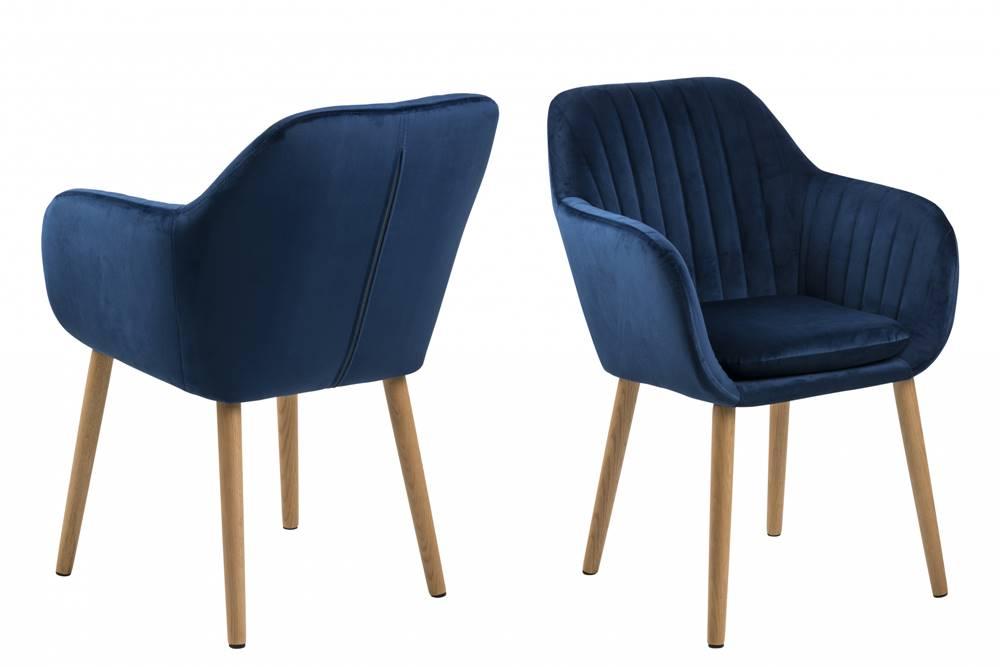 Bighome.sk Jedálenská stolička s opierkami EMILIA, modrá