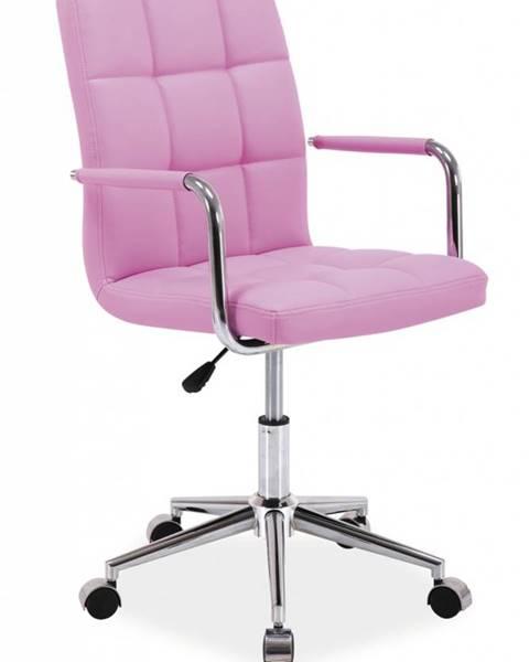 Ružová stolička Signal