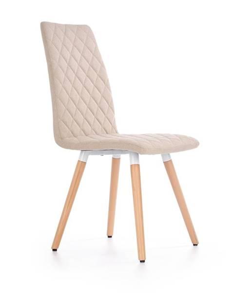 Béžová stolička Halmar