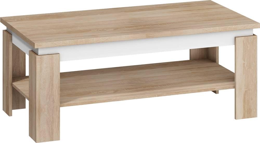MEBLOCROSS Beta konferenčný stolík sonoma svetlá