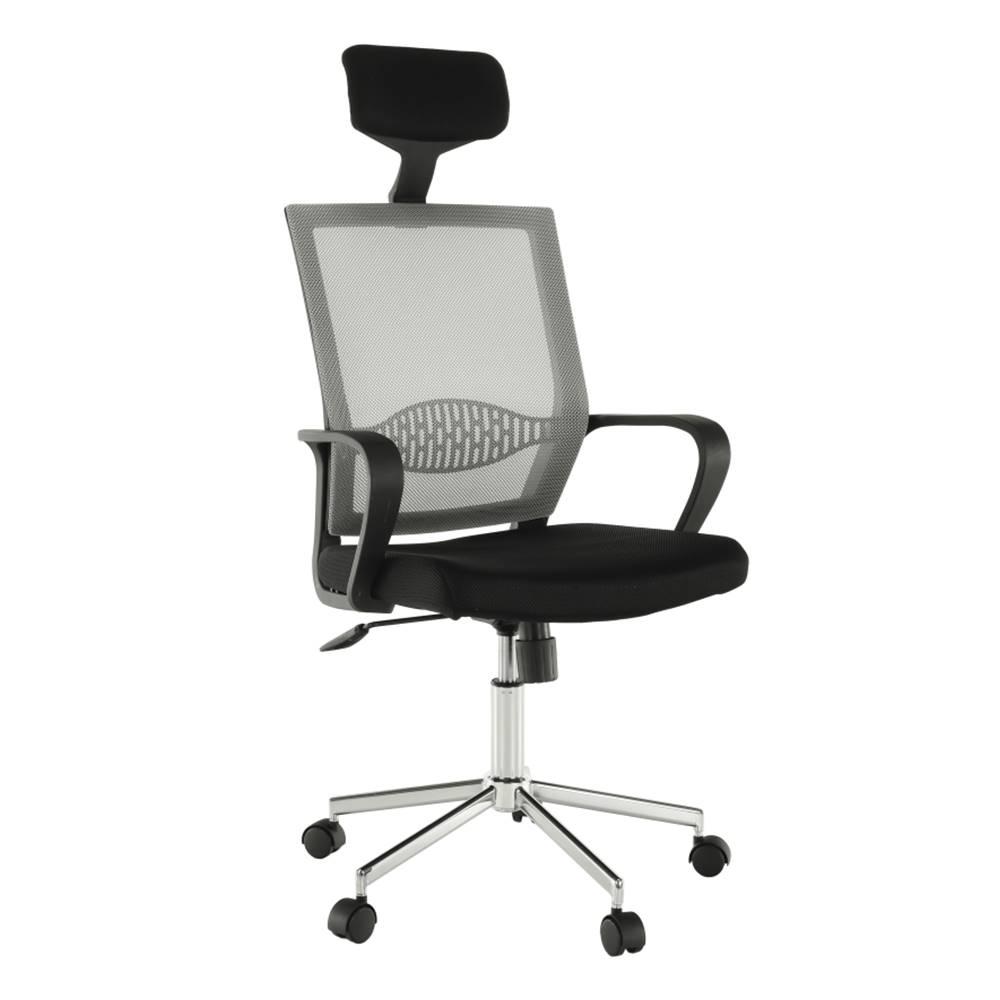 Tempo Kondela Dakin kancelárske kreslo s podrúčkami svetlosivá
