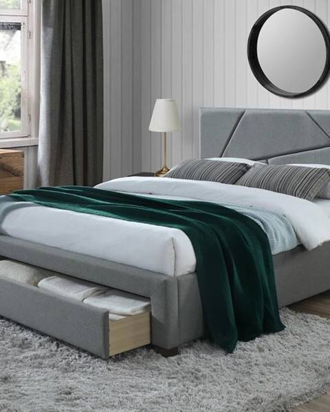 Sivá posteľ Halmar
