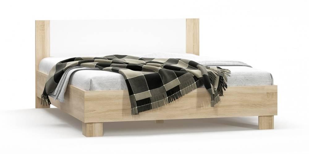 RENAR Markos 160 manželská posteľ s roštom dub sonoma