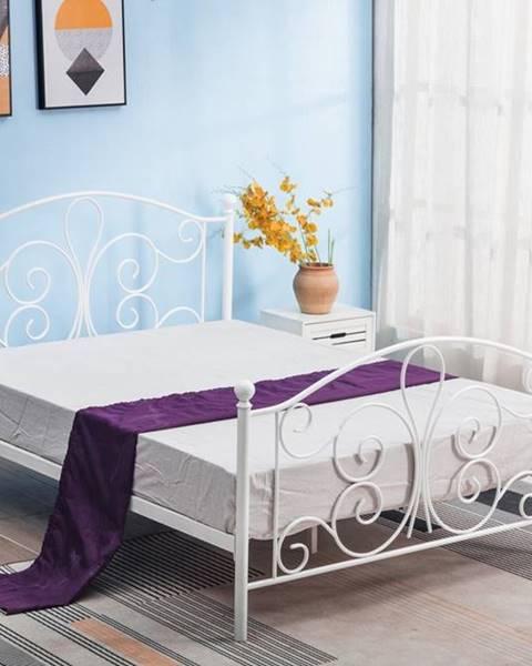 Biela posteľ Halmar