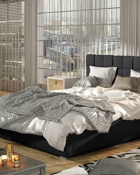 Čierna posteľ NABBI