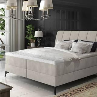 Altama 140 čalúnená manželská posteľ s úložným priestorom svetlosivá (Soro 83)