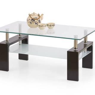 Diana Intro sklenený konferenčný stolík wenge