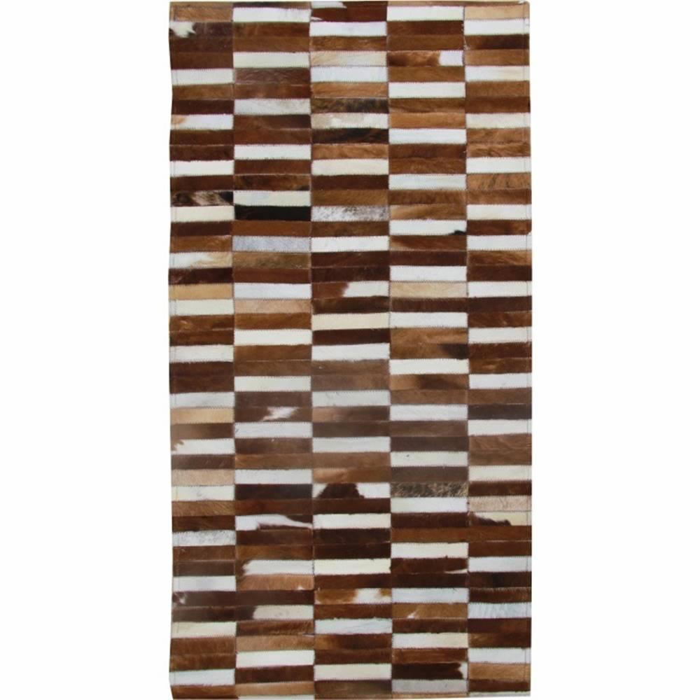 Tempo Kondela Typ 5 kožený koberec 141x200 cm vzor patchwork