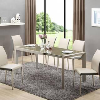 Arabis sklenený rozkladací jedálenský stôl svetlohnedá