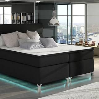 Avellino 140 čalúnená manželská posteľ s úložným priestorom čierna (Sawana 14)