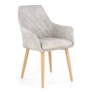 K287 jedálenská stolička sivá