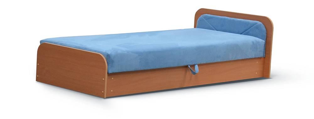 NABBI Pinerolo 80 P jednolôžková posteľ s úložným priestorom svetlomodrá