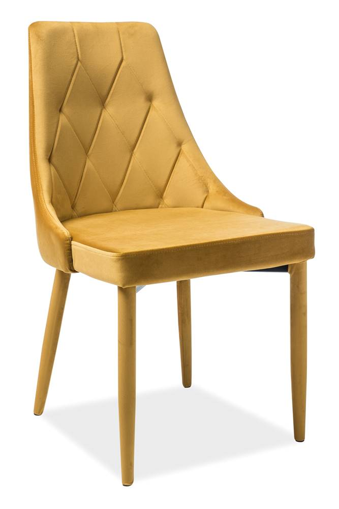 Signal Trix Velvet jedálenská stolička kari
