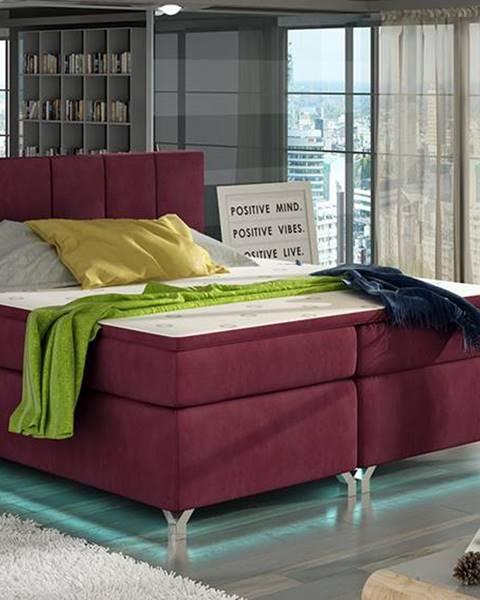 Bordová posteľ NABBI