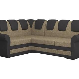 Latino II L rohová sedačka s rozkladom a úložným priestorom cappuccino