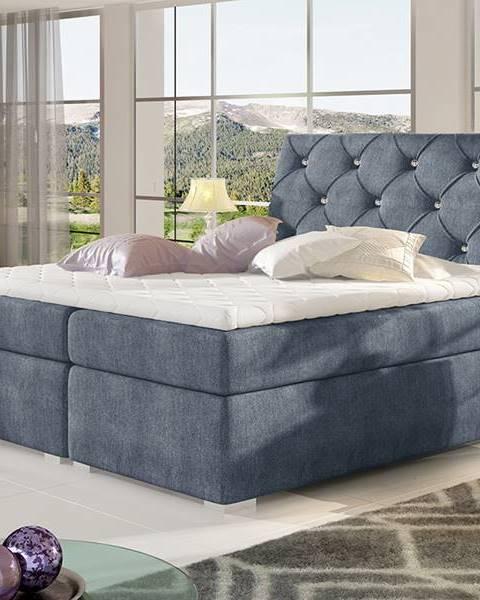Modrá posteľ NABBI