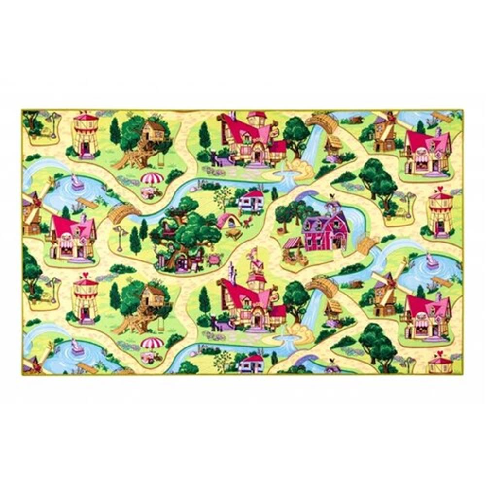 Sencor Vopi Dětský koberec Rozprávková dedinka, 133 x 133 cm, 130 x 130 cm
