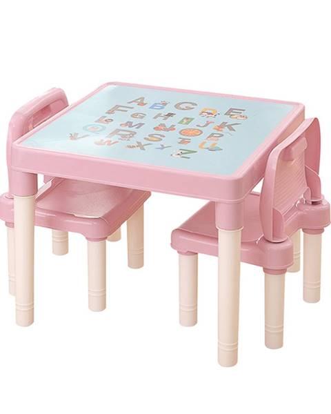 Ružový detský nábytok Plastia