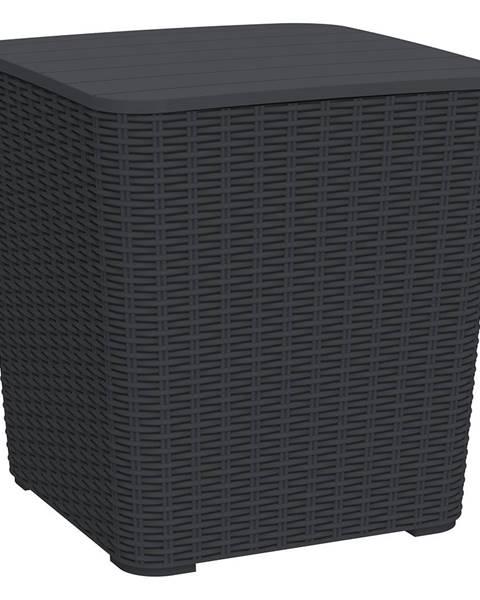 Čierny úložný box Tempo Kondela