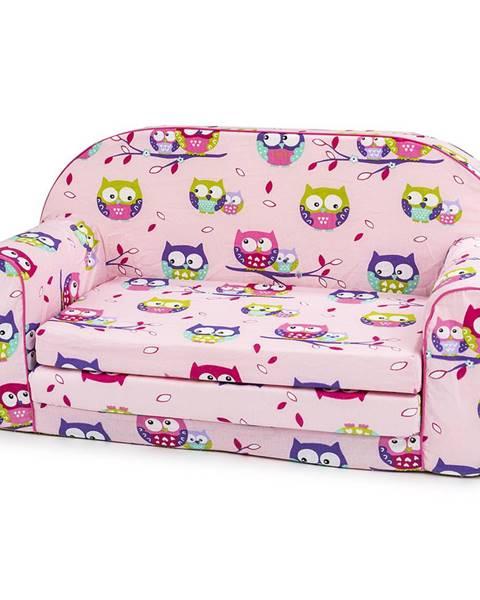 Ružový detský nábytok Bino