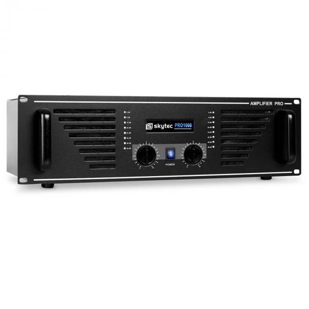 Skytec PA – zosilňovač Skytec AMP – 10001600w s čiernym koncovým