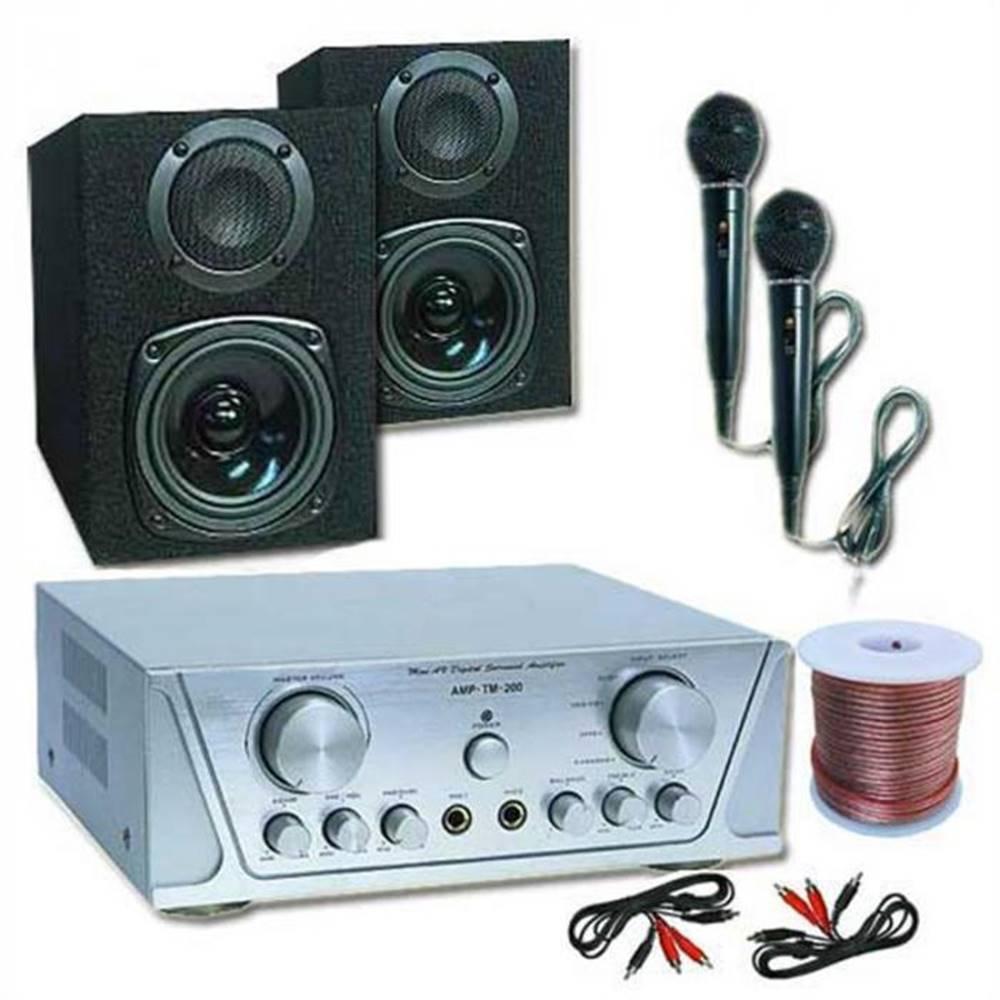 Electronic-Star Electronic-Star HiFi set HVA 200 + MC 130 + 2 mikrofóny – karaoké 1