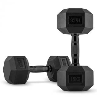 Capital Sports Hexbell, jednoručná činka, pár 2 x 15 kg