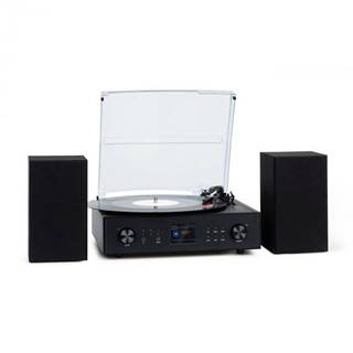 Auna Connect Vinyl, smart rádio, gramofón, 2 reproduktory, 20 W max., internet/DAB+