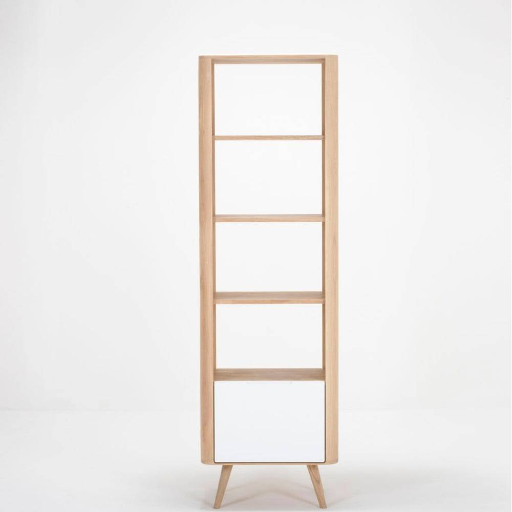 Gazzda Knižnica z dubového dreva Gazzda Ena, 60×42×196 cm