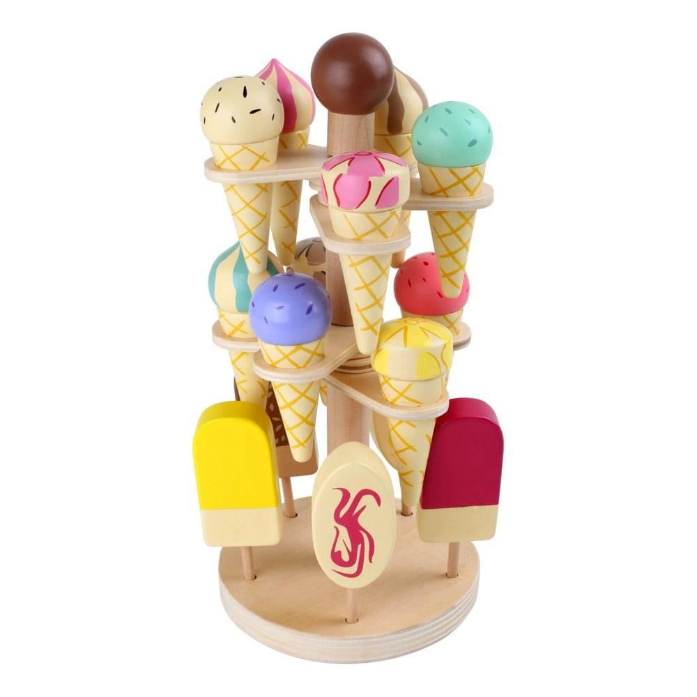 Legler Set drevených zmrzlín na hranie so stojanom Legler Ice Stand