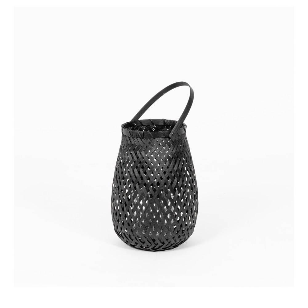 Compactor Čierny bambusový lampáš Compactor Bamboo Lantern, ⌀ 18 cm