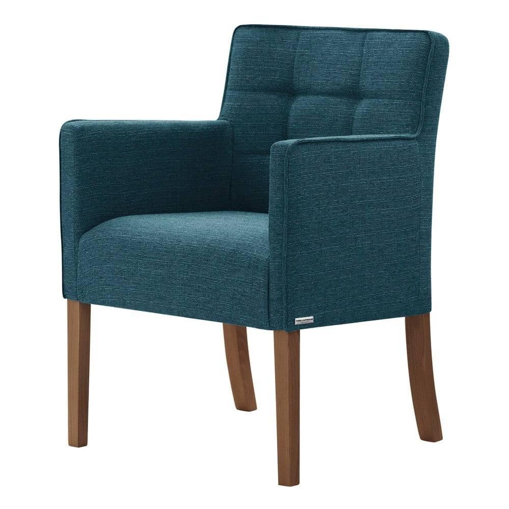 Ted Lapidus Maison Tyrkysová stolička s tmavohnedými nohami Ted Lapidus Maison Freesia