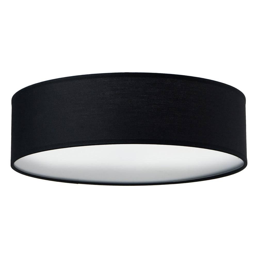 Sotto Luce Čierne stropné svietidlo Sotto Luce MIKA, Ø 40 cm