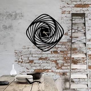 Čierne kovové nástenné hodiny Girdap, ⌀50 cm
