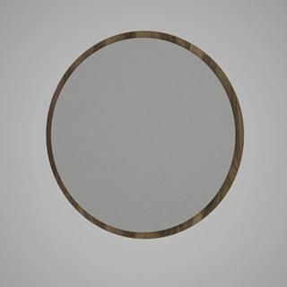 Guľaté nástenné zrkadlo v hnedom ráme Glob, ⌀ 59 cm