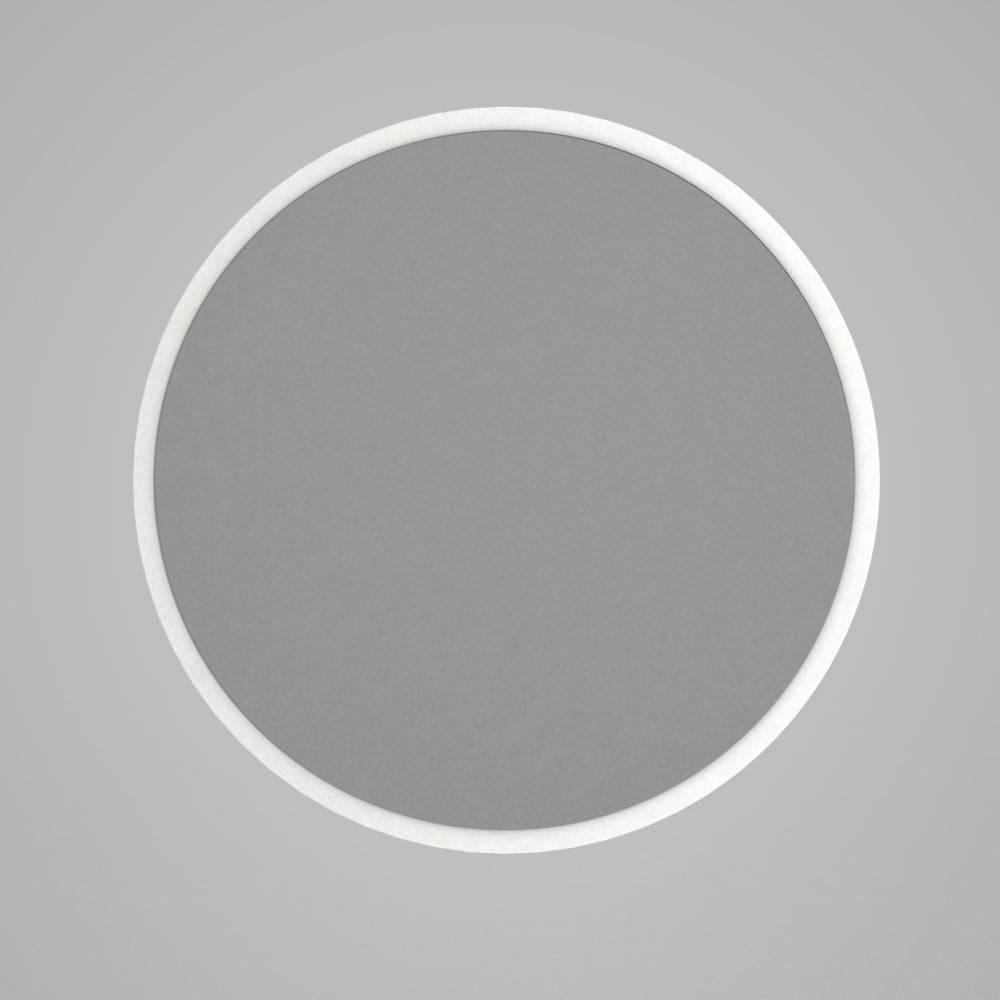 Tera Home Guľaté nástenné zrkadlo v bílémém ráme Glob, ⌀ 59 cm