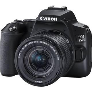 Digitálny fotoaparát Canon EOS 250D + 18-55 IS STM čierny
