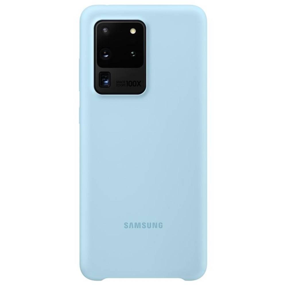 Samsung Kryt na mobil Samsung Silicon Cover na Galaxy S20 Ultra modrý